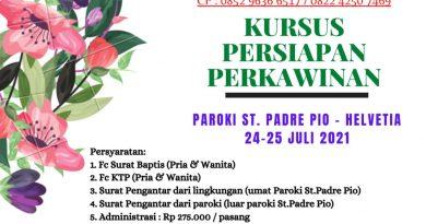 KURSUS PERSIAPAN PERKAWINAN (KPP) 24-25 JULI 2021